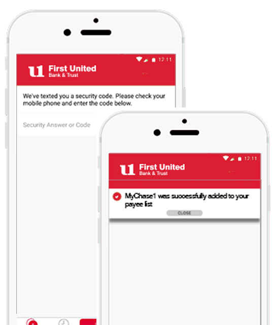 Transactional Out-of-Band Authentication Screen Samples