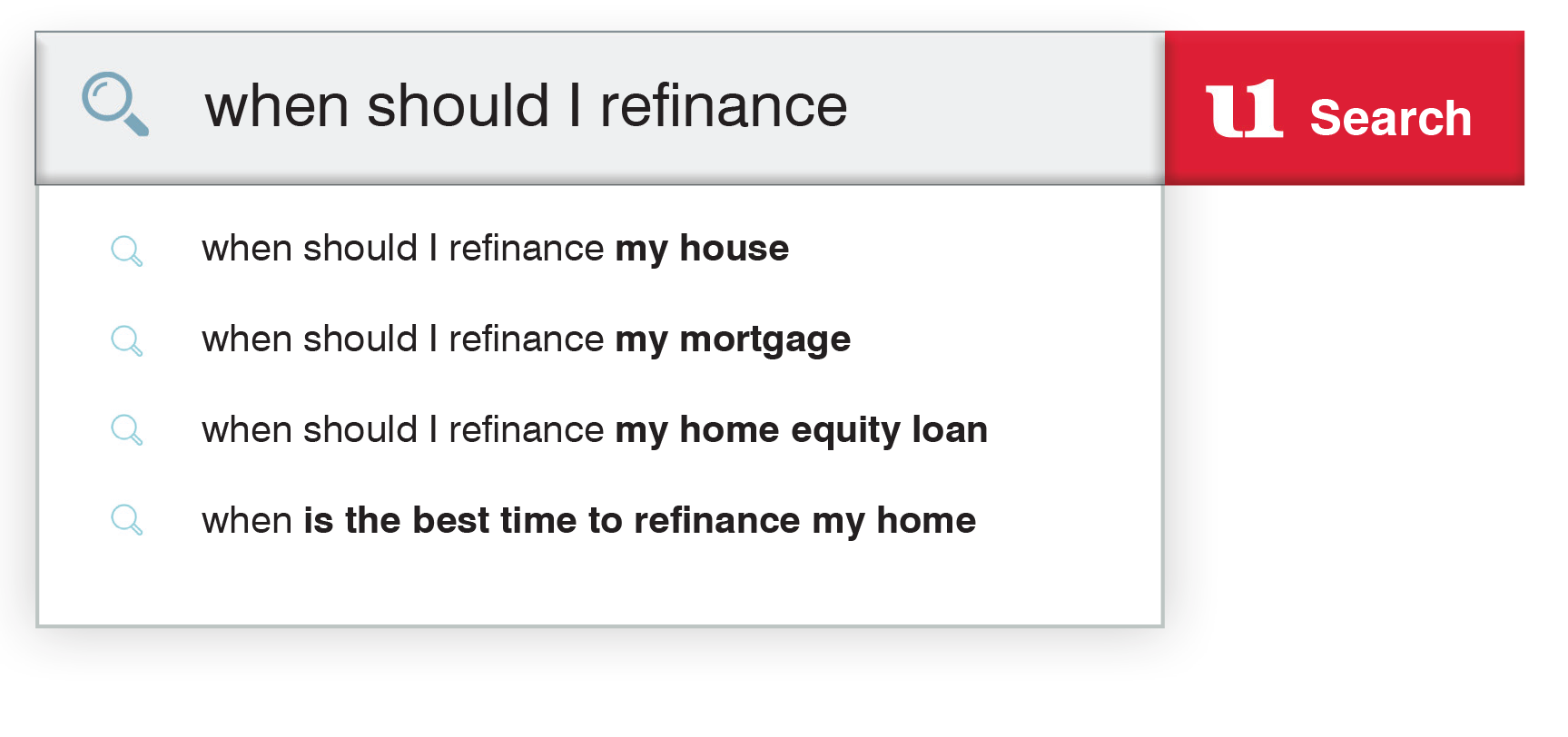 Image of search example of mortgage questions