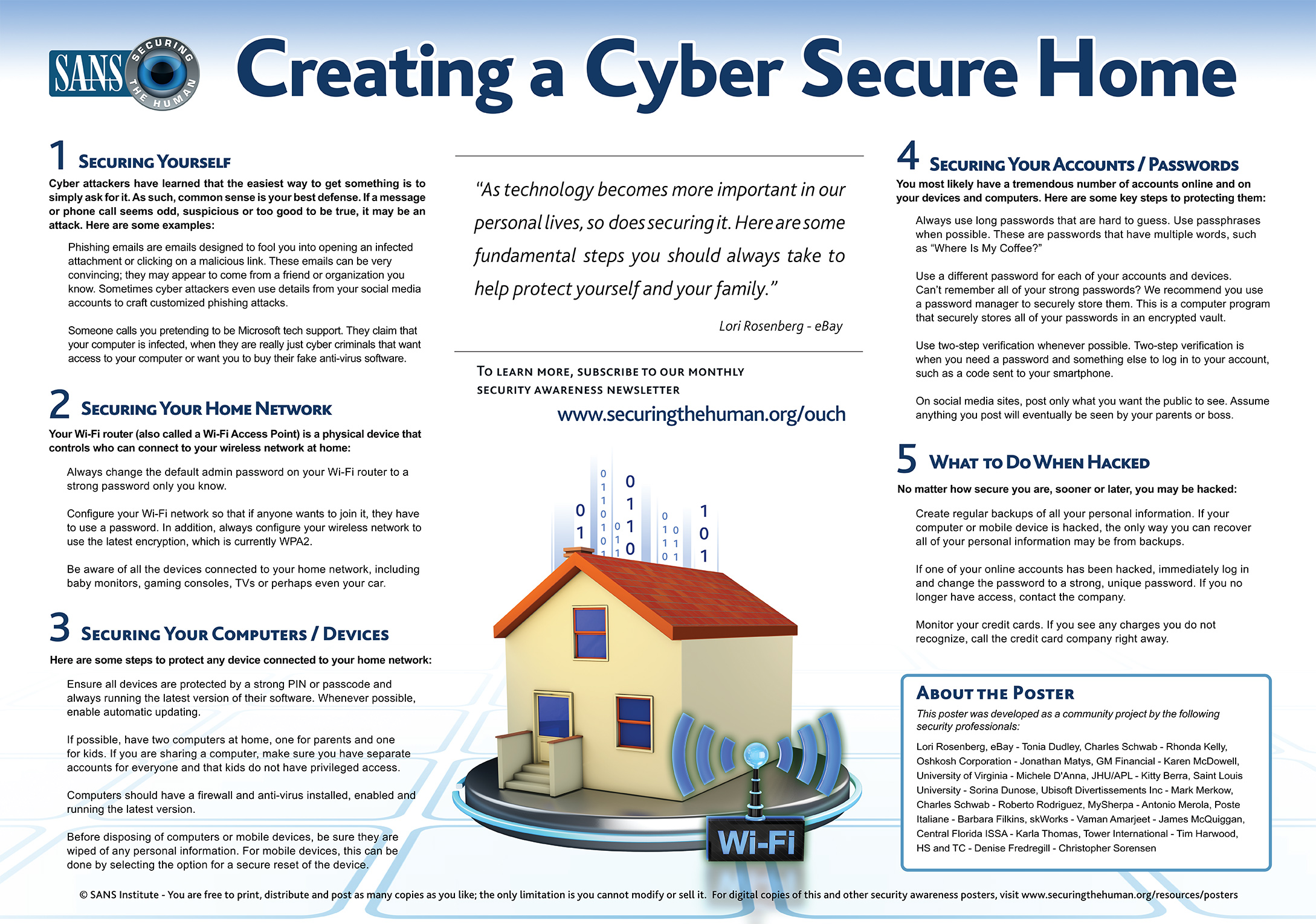Creating a Cyber Secure Home Image