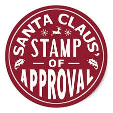 Image of Stamp of approval from santa